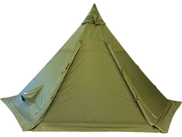 Helsport Pasvik 4-6 Outertent + Pole, green